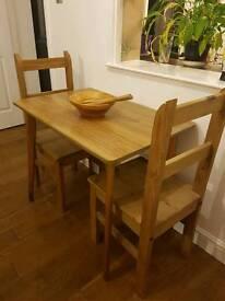 Vintage Teak Formica Table
