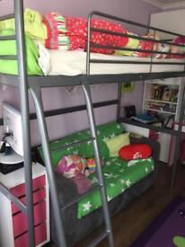 IKEA bunk bed with mattress £50