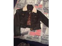 Jane Norman size 12 Leather Jacket