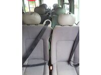 10 X MINI BUS SEATS AS NEW SINGLES/DOUBLES