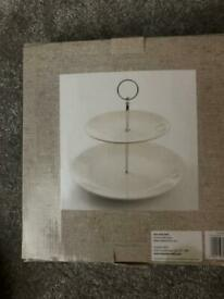 Country heart cake stand - brand new