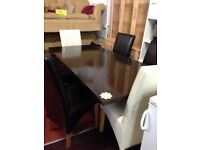 stunning dinning table and chairs for sale