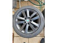 2 bmw wheels with brand new tyres