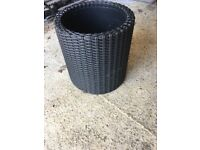 Rattan style pot for garden/conservatory