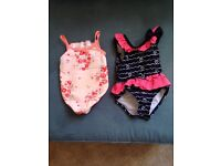 0-3 and 3-6 months girls swimming costumes