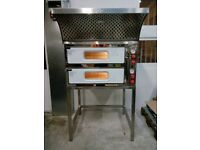 "Electric Double Pizza Oven, Commercial, 8x13"" pizza, 1 year Warranty, Single/3 phases,Quick delivery"