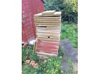 Large Garden Slabs for Sale, Good Condition, Cream & Red