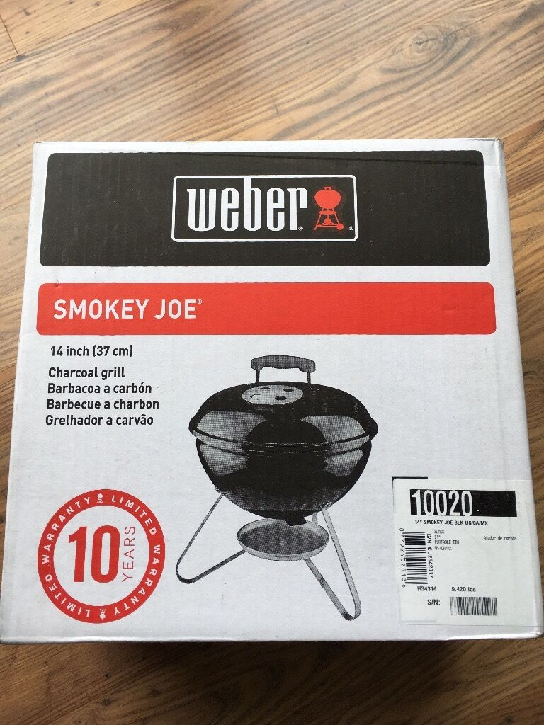 weber smokey joe 37cm 14inch charcoal grill in black brand new in box in falmouth. Black Bedroom Furniture Sets. Home Design Ideas