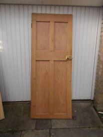 Antique solid pine door