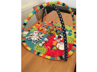 Bright Starts Spots and Stripes Safari Play Mat & Gym - Instructions included