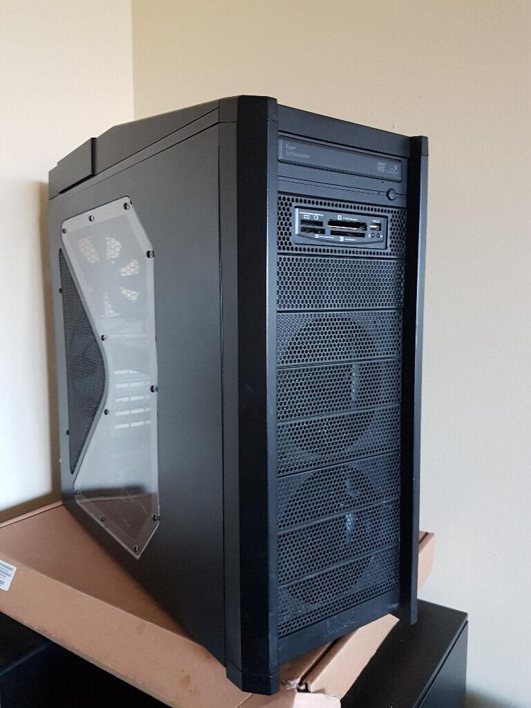 Antec Gaming PC, Intel i3 Quad Thread 4x 3.4Ghz, 8GB, 500GB SSD, Nvidia GTX 760Ti 2GB, Win 10 + 7