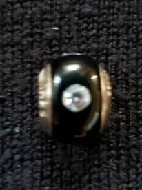 LOVELINKS SILVER, BLACK & CLEAR SWAROVSKI CRYSTAL CHARM - BRAND NEW