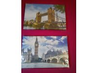 London on printed canvas