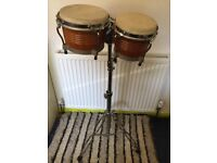 Twin Bongo Drums with Stand
