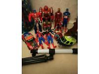 Spiderman Ironman, toy bundle worth £70