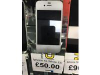 Apple iPhone 4s white EE + warranty