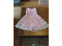 Girls Dress - pink - size 3-4