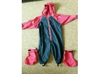 Togz All in One Waterproof Suit 12/18 months with waterproof booties