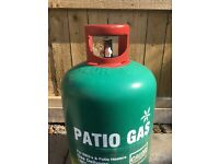 Large full patio gas bottle for BBQ or patio heater
