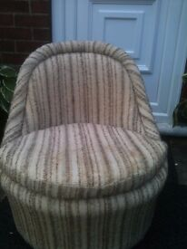 GENUINE 60'S SHERBOURNE POUFFE /SEAT WITH ORIGINAL COVER