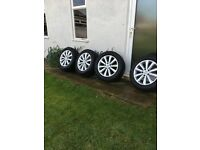"19"" VW Salamanca Alloy Wheels with near new tyres"