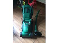 Qualcast Electric Lawnmower and Strimmer/Trimmer