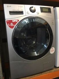 LG 8KG WASHING MACHINE SILVER A ENERGY RECONDITIONED