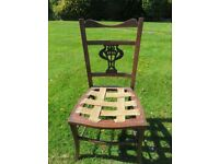 Inlaid Mahogany Dining Chair