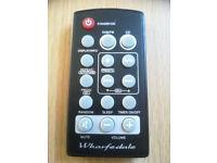 WHARFEDALE REMOTE CONTROL FOR DAB RADIO