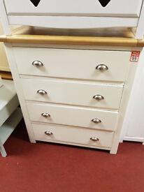 kent 2 tone 4 drawer chest