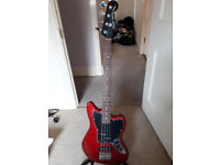 Squier By Fender Vintage Modified Jaguar Bass Special SS, Red