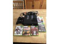 Biggin Hill. Xbox 360 Slim 250GB +2 controllers + 5 games