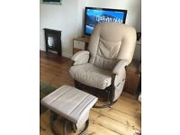 Rocking chair with stool ideal for nursing. Perfect condition