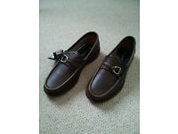 Massimo Dutti shoes mocasin authentic leather brown EUR40 UK 6 Brand new, never worn
