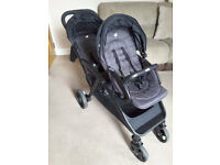 Joie double buggy with raincover , excellent condition - approx 7 months old