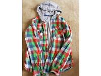 Boys checked hooded shirt- Age 12-13 years