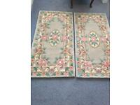 Pair of 100% wool rugs made in China