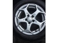 FORD ALLOY WHEELS WITH 215/55/16 TYRES
