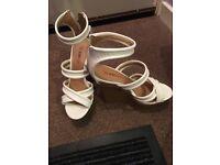 Womens white wedge heels size 5