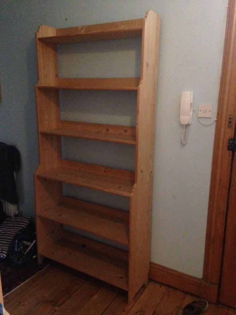Ikea Leksvik Bookcase Solid Pine Shelves In Edinburgh City