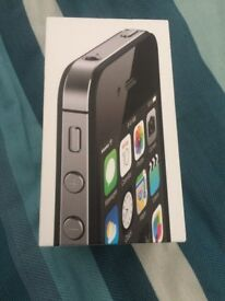 IPHONE 4S BLACK - 8GB - BOX ONLY.