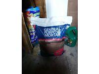 Premixed dry mortar