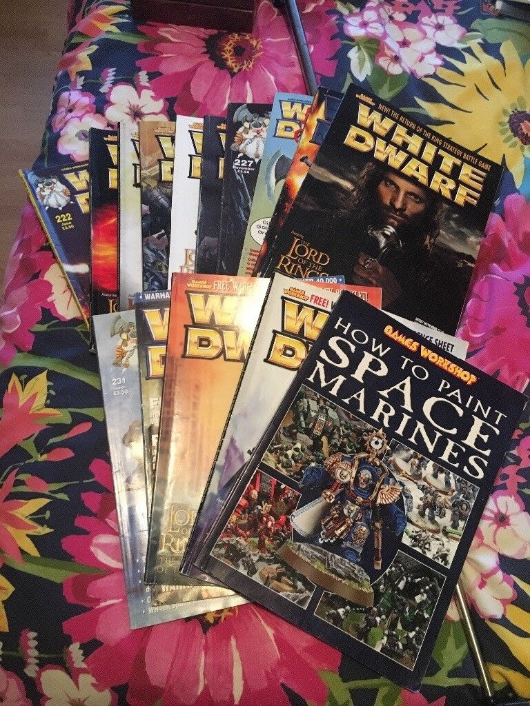 Warhammer magazines excellent condition collectors
