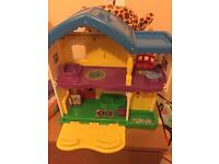 Fisher price Little people playhouse + playhouse with figures