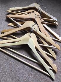 10 clothes hangers