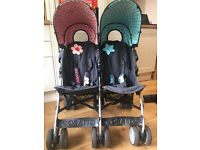 "Cosatto ""Sis & Bro"" double buggy (umbrella fold)"