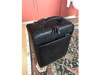 Luxury leather suitcase