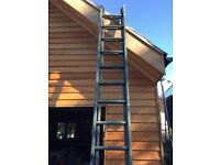 2 wooden ladders 3.6 metres each- 1 step snapped - £10