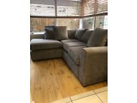 Next corner sofa in great condition 84 inches wide x 65 inches chaise) deep