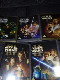 5 X ORIGINAL STAR WARS DVDS - NO MORE TIME WASTERS !